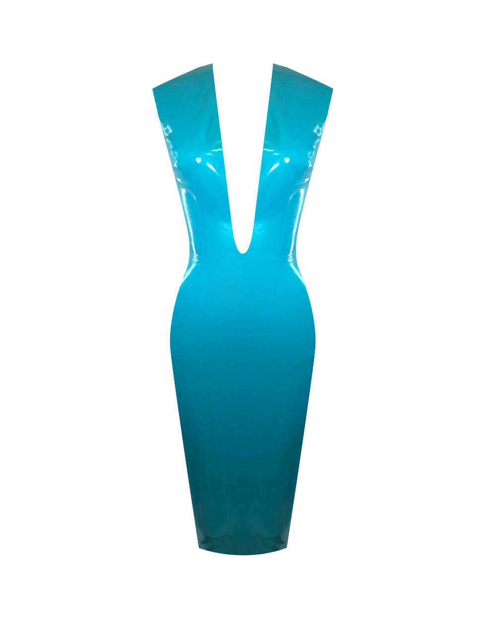 Plunge Dress  Womens - Vex Inc. | Latex Clothing