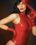 Kylie Jenner Latex wrist gloves by Vex