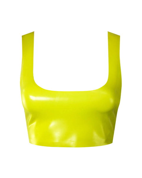 Vex Latex The Kitty Bra In Vibrant Yellow