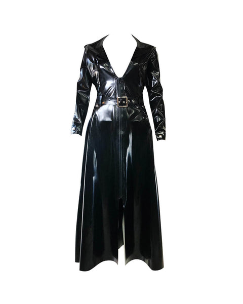 Vex Latex Trinity Dress In Black