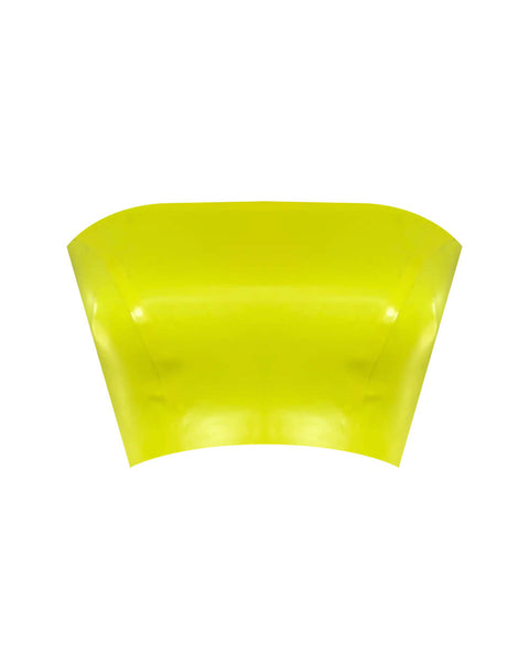 Vex Latex Tube Top In Vibrant Yellow