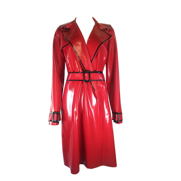 Flasher Trench Coat - Vex Inc. | Latex Clothing