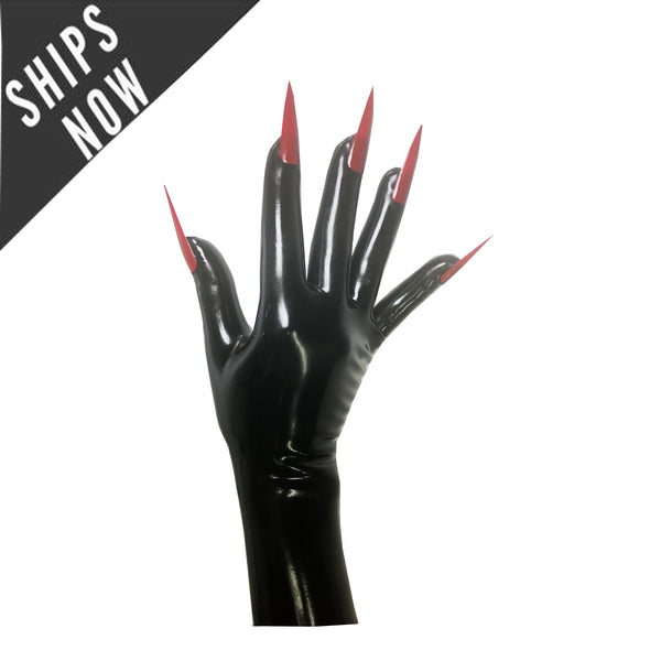 Fierce Nailed Gloves in Big Sizes READY TO SHIP - Vex Inc. | Latex Clothing