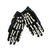 Skeleton Cropped Gloves  Womens - Vex Inc. | Latex Clothing