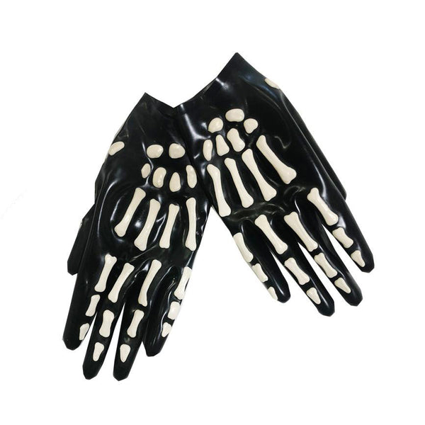 Skeleton Cropped Gloves - Vex Inc. | Latex Clothing
