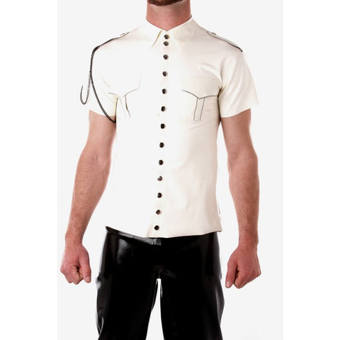 mens latex rubber army shirt