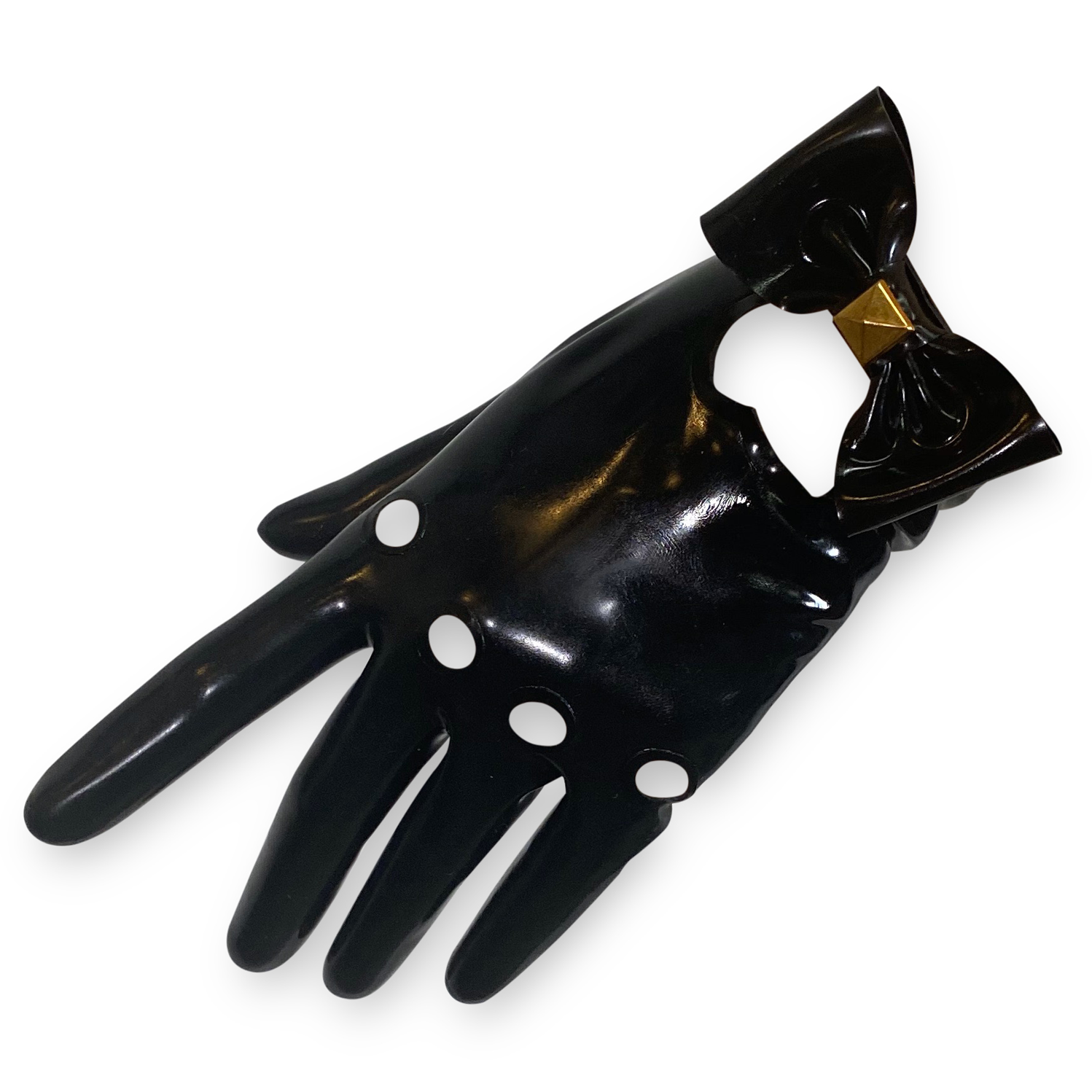 Heart Moto Gloves  Womens - Vex Inc. | Latex Clothing