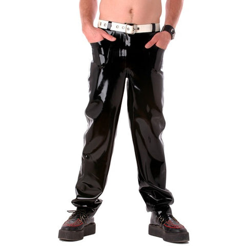 Latex rubber mens jeans