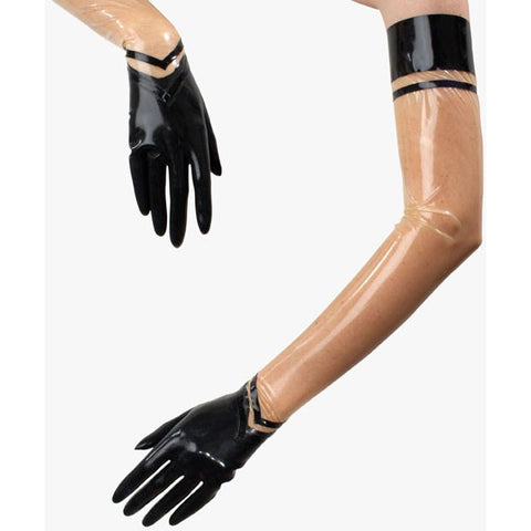 Latex rubber molded fashion gloves