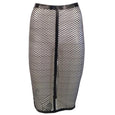 Laser Cut Fishnet Pencil Skirt - Vex Inc. | Latex Clothing