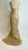 Gold Glitter Gown READY TO SHIP