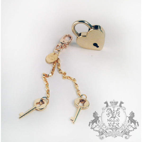 Heart Lock & Key Set - Vex Inc. | Latex Clothing