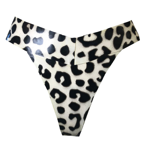 Print High Cut Thong - Vex Inc. | Latex Clothing