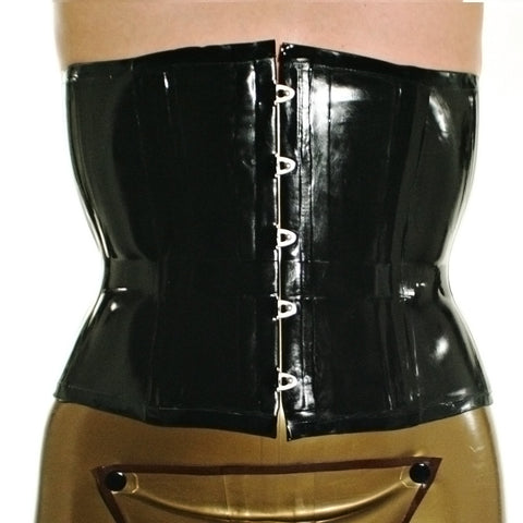 latex rubber waist cintcher corset for men