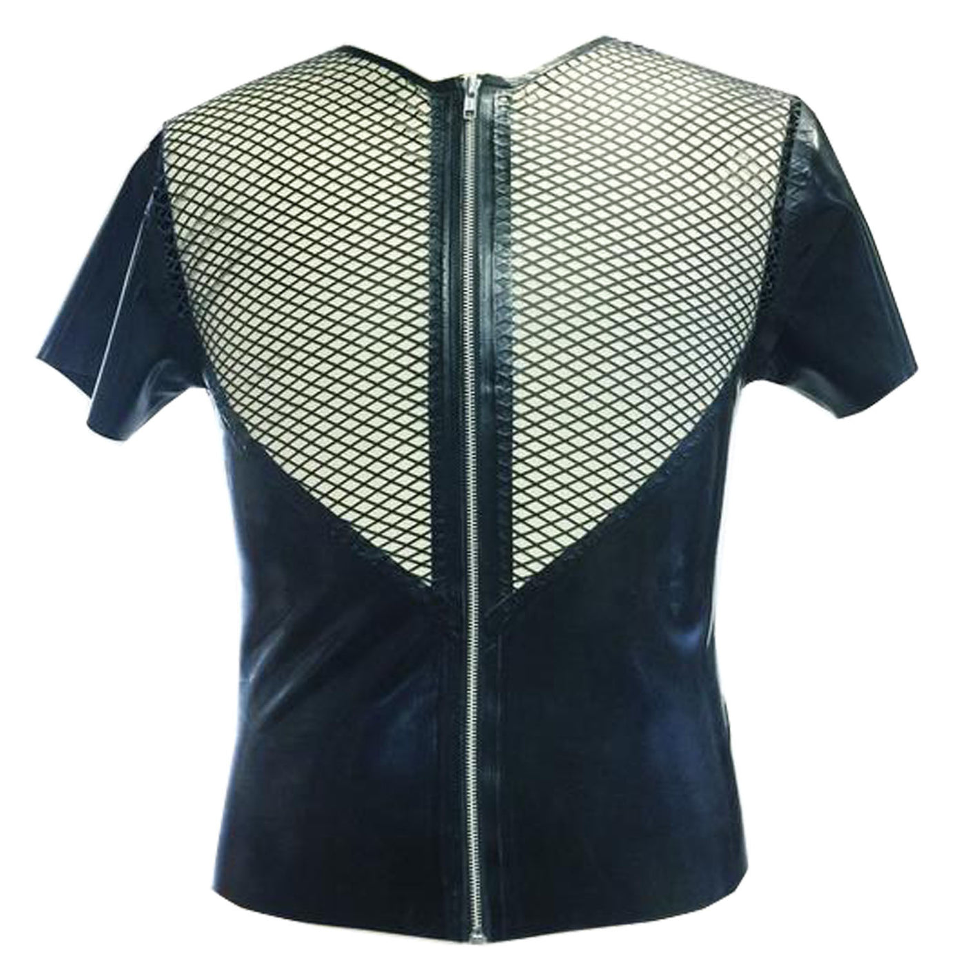 Fishnet Zip Tee - Vex Inc. | Latex Clothing