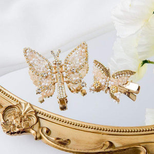 Vintage Rhinestones Crystal Butterfly Hair Clip (2 pcs)