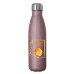 Insulated Stainless Steel Water Bottle - pink glitter
