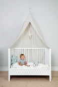 Bed Canopy - Dot Creme Gold