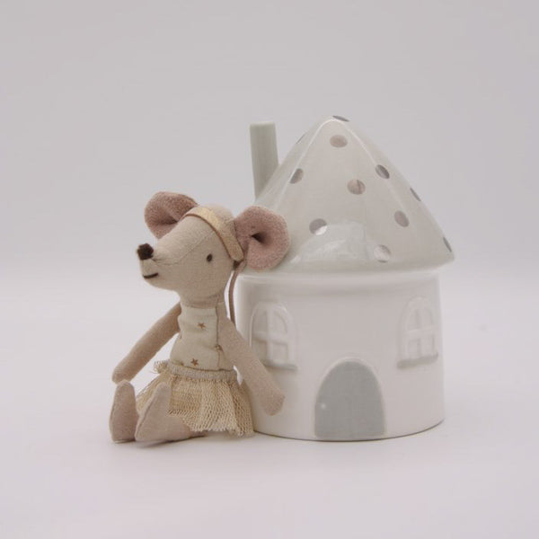 Elfin House Money Box - Silver and Grey