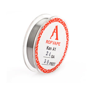 Rofvape Kanthal A1 Wire 24/26/28GA(0,5mm/0,4mm/0,32mm) Diameter (30 Feet)