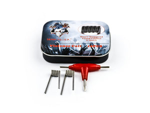 Confezioni da 10 pezzi Demon Killer Staple Staggered Fused Clapton Coil 0,3 Ohm