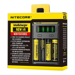 Nitecore New i4 Caricabatterie Intellicharger EU/US TC MOD Batteria