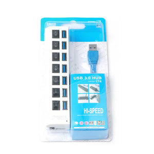 7 Port High SuperSpeed Adapter USB 3,0 Hub