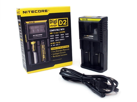 Nitecore D2 Caricabatterie Intellicharger EU/US TC MOD Batteria