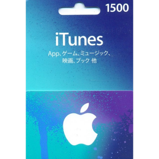 iTunes Japan gift card 1500JPY