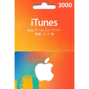 iTunes Japan gift card 3000JPY