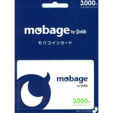 Mobage MobaCoin Prepaid Card 3000 JPY