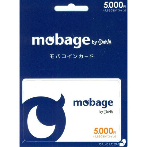Mobage MobaCoin Prepaid Card 5000 JPY