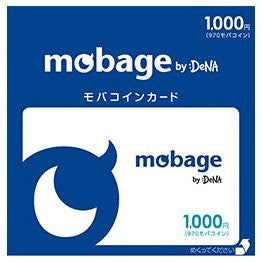 Mobage MobaCoin Card 1000JPY