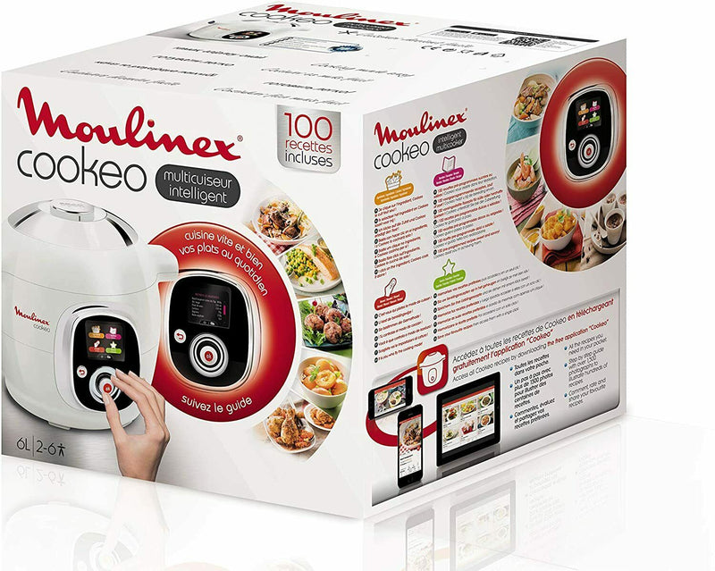 Moulinex CE704110 Cookeo Multikocher 800W weiß/chrom -10nw . - Extreme Vision GmbH