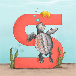 Sea Turtle Square Unframed Art Print