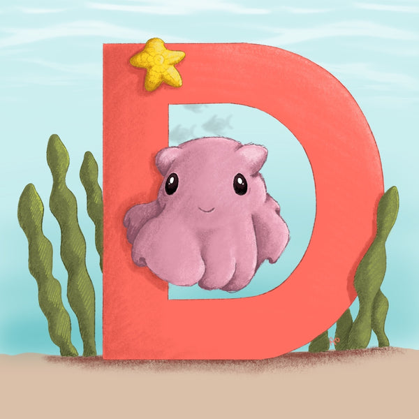 Dumbo Octopus Square Unframed Art Print