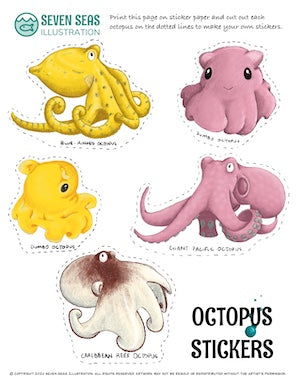 Octopus Activity Printable Pack