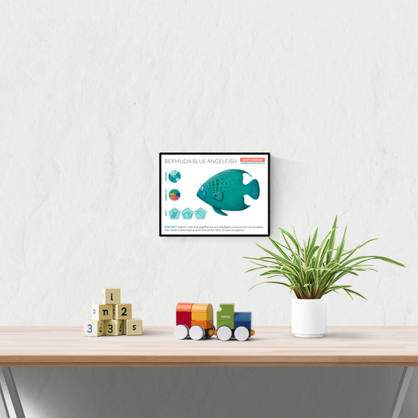 Angelfish Data Sheet Unframed Art Print