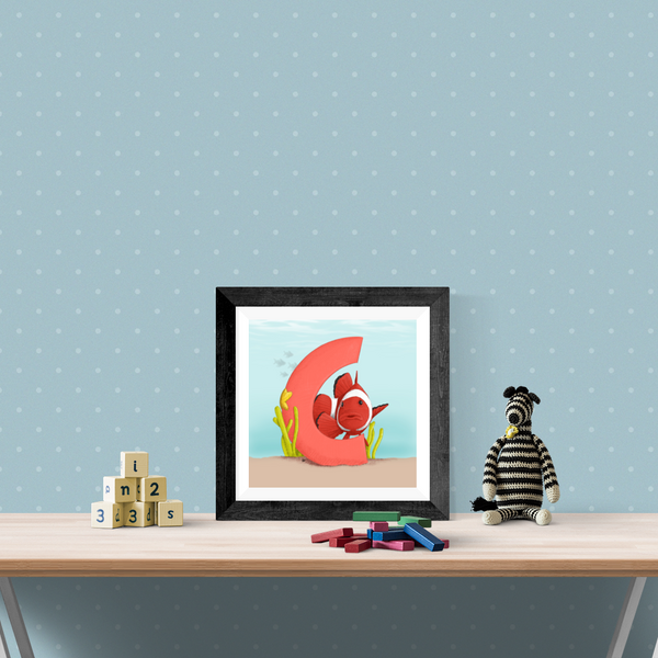 Clownfish Square Unframed Art Print