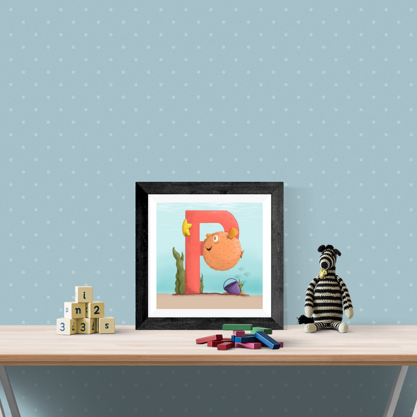 Pufferfish Square Unframed Art Print