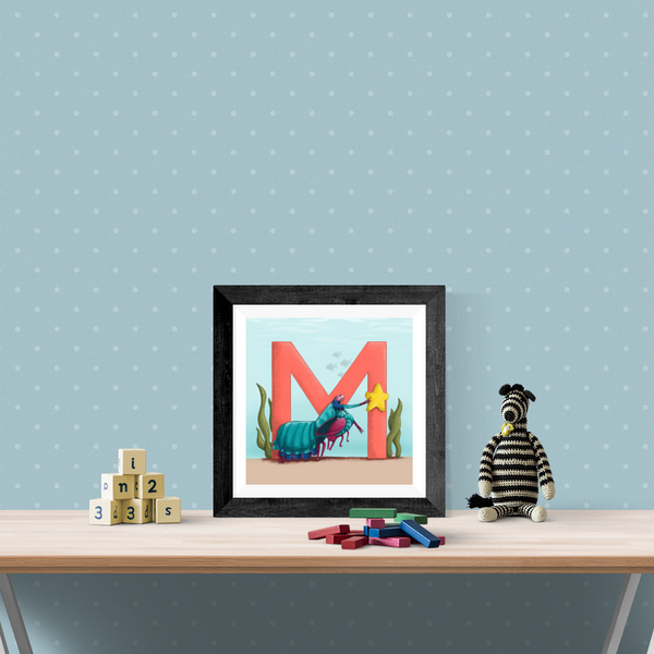 Mantis Shrimp Square Unframed Art Print