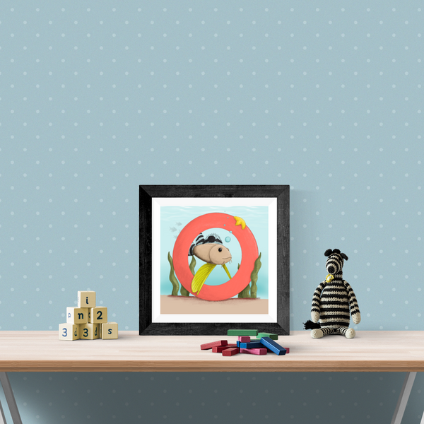 Ocellated Waspfish Square Unframed Art Print