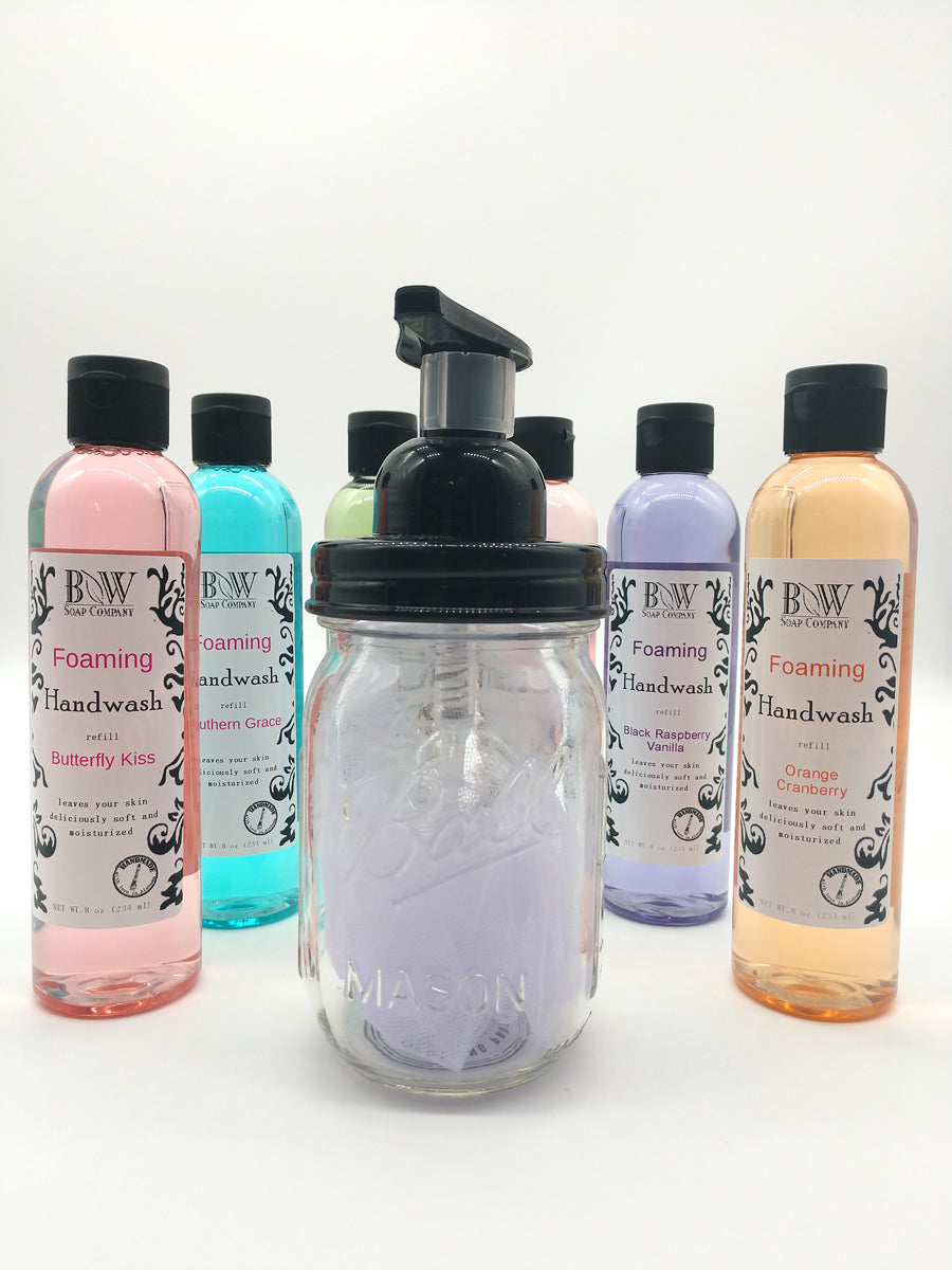 Foaming Hand Soap Mason Jar Pack