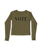 "Anna ""Vote"" Long Sleeve Tee - Yes And Apparel"