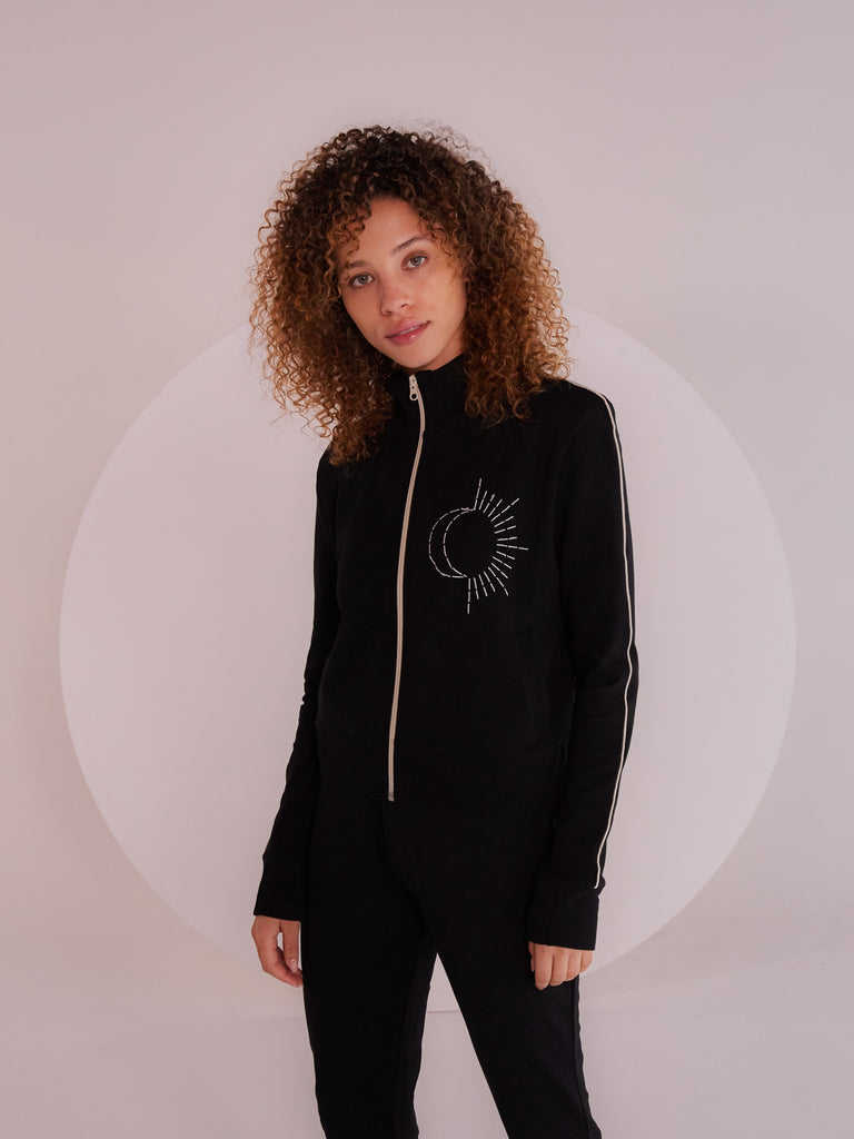 "Clara ""Sun & Moon"" Track Jacket - Yes And Apparel"