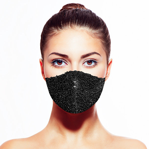Sequin Mask - Shiny Black