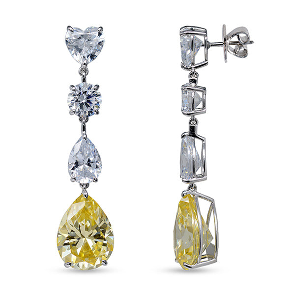 Rhodium Plated Yellow Sundrop