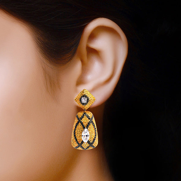 Rhodium plated Nuclea in Yellow and Black