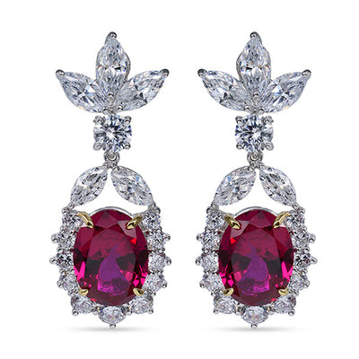 Rhodium Plated with Hydro Rubies Ice Fairy