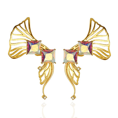 Iaira Earcuffs in Yellow Gold with Pink Hues